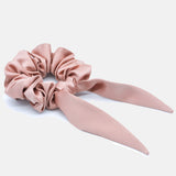 True Rose Gold Satin Bow Scrunchie