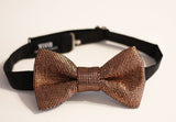 rose gold glitter bow tie copper bow tie