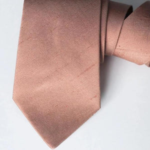 rose gold tie wedding neck ties textured raw silk tie