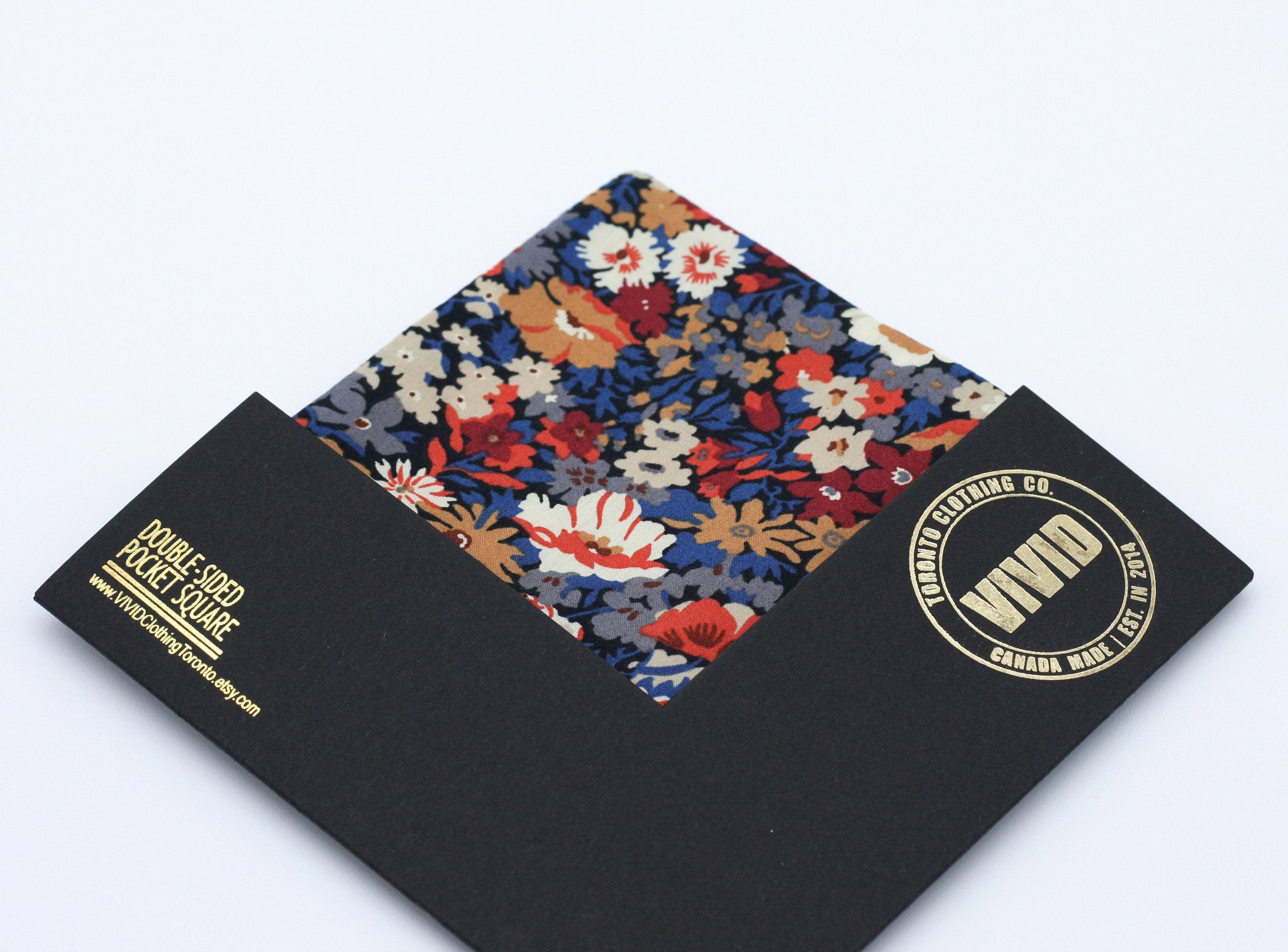 Pocket square in Liberty of London fabric.