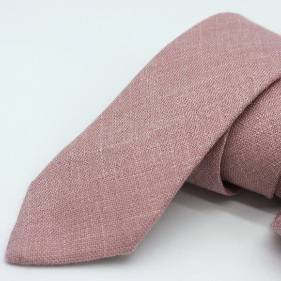 Dusty Pink Wool Neck Tie - Rose Quartz