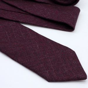 burgundy wool tie, maroon, wine, burgundy wedding
