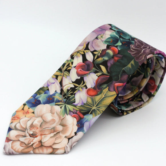 Floral Neck Tie in Multi - Liberty of London