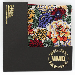 Floral Pocket Square - Peonies in Multi - Liberty of London