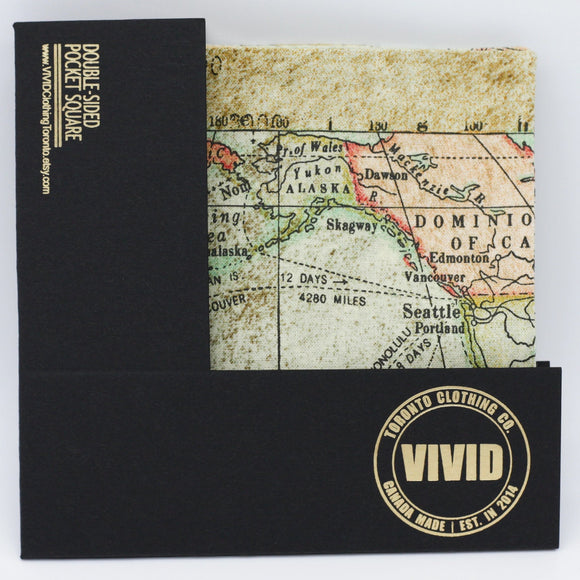 World Map Pocket Square