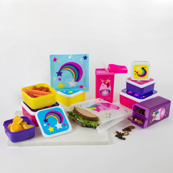 Unicorn & Rainbow 33 Piece Lunch Kit