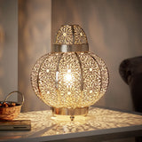 Moroccan Bronze Beaded Table Lamp