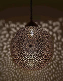 Copper Moroccan Hanging Light sphere