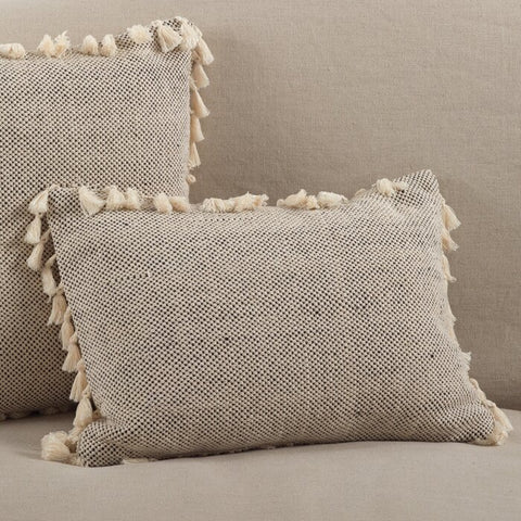 Charleena Moroccan Tassel Cotton Lumbar Pillow