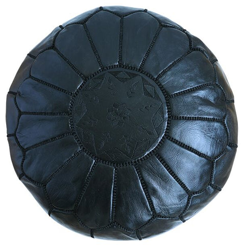 medium Leather Pouffe