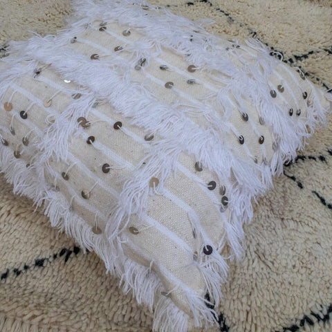 White Handira Pillow