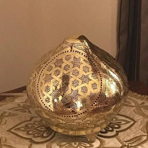 Brass Moroccan Table Lamp