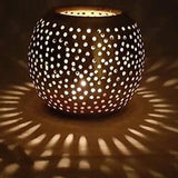 Large Moroccan Candle Holder Sphere Copper