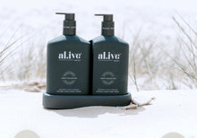 Load image into Gallery viewer, AL.IVE BODY WASH & LOTION DUO WITH TRAY COCONUT & WILD ORANGE