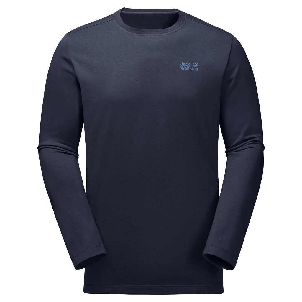 JACK WOLFSKIN H 1806041- ESSENTIEL LONGSLEEVE NIGHT BLUE