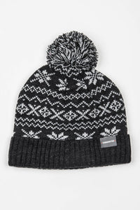 CANADIAN TAG TUQUE- CACOUNA GRIS/NOIR