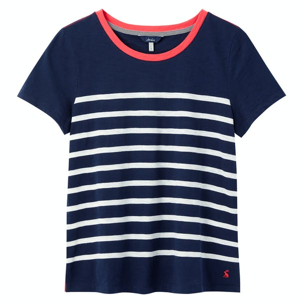 JOULES-F-T-SHIRT CARLEY STRIPE COL ROND