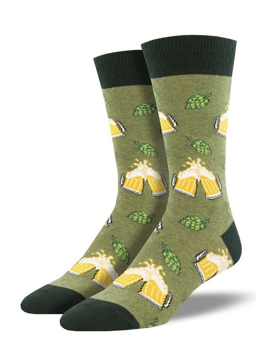SOCKSMITH-H-CHAUSSETTES HOPPIER TOGETHER-CHINÉ VERT