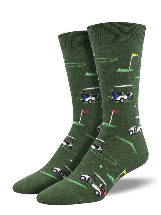 SOCKSMITH-H-CHAUSSETTES PUTTING AROUND-CHINÉ VERT