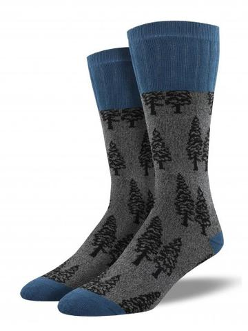 SOCKSMITH-H-CHAUSSETTES OUTLANDS TREES-CHARCOAL