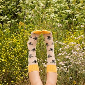 SOCKSMITH-F-CHAUSSETTES OUTLANDS BEE-AVOINE
