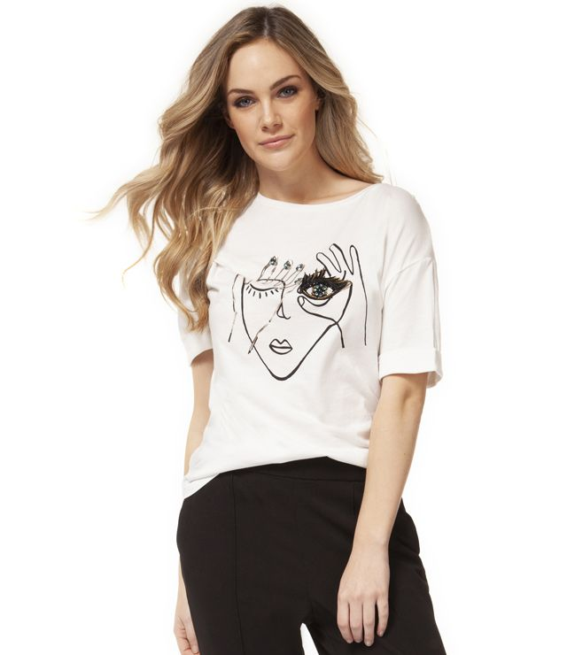DEX 1424075 SCOOP NECK TEE