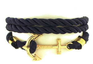 Anchor Bracelet Blue