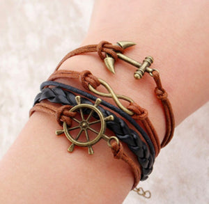 NAUTICAL BRACELET BROWN/BLACK