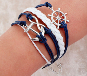 NAUTICAL BRACELET WHITE/BLUE