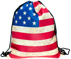 DRAWSTRING BAG AMERICAN FLAG