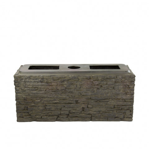 Aquascape - Small and Large Straight Stacked Slate Wall Base