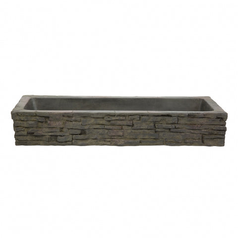 Aquascape - Straight Stacked Slate Topper - Quad-Spill and Front-Spill