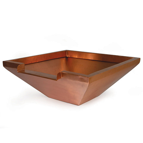 "Atlantic 26"" Copper Bowl W/ 12"" Spillway (Round & Square)"