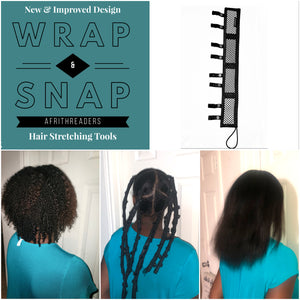 "New Design ""Wrap & Snap"" AfriThreaders (16inch/6count)"
