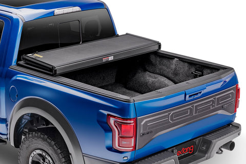 Extang Solid Fold 2.0 83466 Trifold Tonneau Cover - 14-20 Tundra 6.5' Bed w/ Rail System - Leduc Hitch
