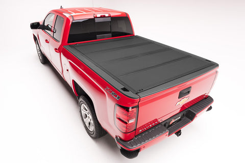 BAKFlip MX4 448122 Hard Folding Tonneau Cover - 14-18 Chev/GMC 1500, 15-19 2500/3500, 19 Legacy Body Style 1500 8' Bed
