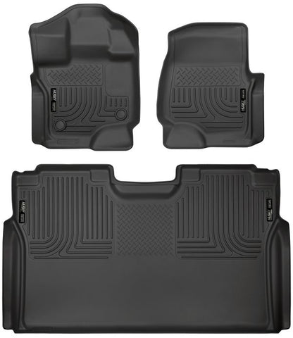 Husky Liners 94041 Weatherbeater Series - 15-20 Ford F-150 SuperCrew Cab