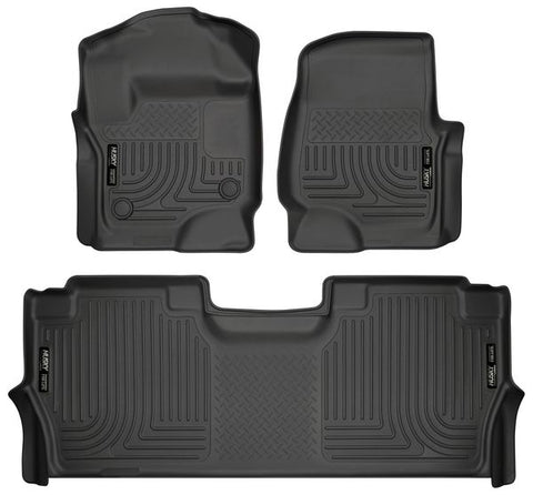 Husky Liners 94061 Weatherbeater Series - 17-20 Ford F250/F350/F450 Crew Cab