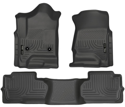 Husky Liners 98241 Weatherbeater Series - 14-19 Legacy Body Style Chevy/GMC 1500 & 15-19 Chevy/GMC 2500/3500 Double Cab