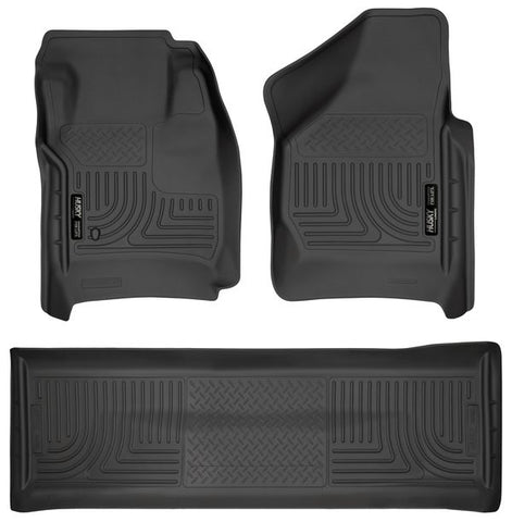 Husky Liners 98381 Weatherbeater Series - 08-10 Ford F250/F350 Crew Cab