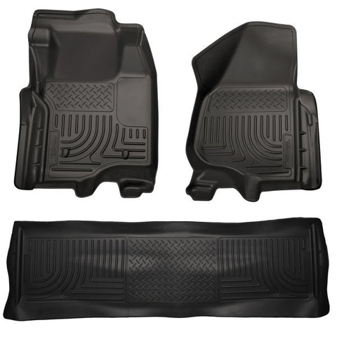 Husky Liners 98711 Weatherbeater Series - 11-12 Ford F250/F350 Crew Cab