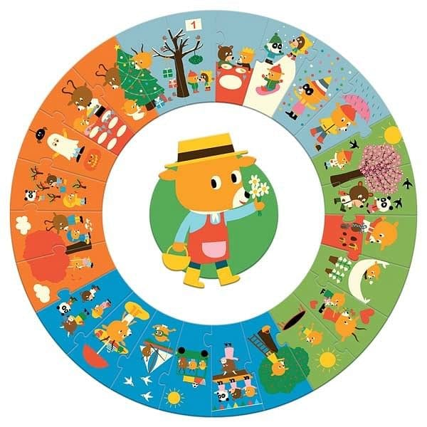 DJECO The Year Giant Circle Puzzle - Fairy Kitten