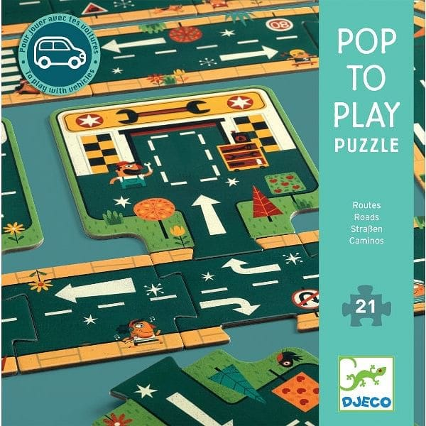 DJECO ceļi - pop to play puzzle - Fairy Kitten