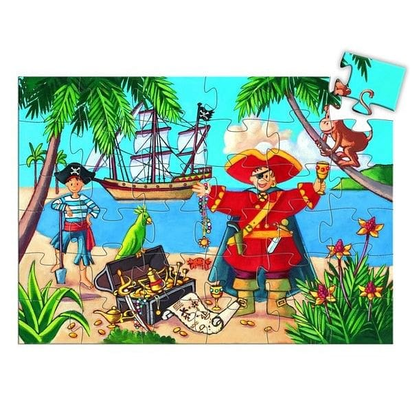 DJECO The Pirate and the Treasure 36pcs Silhouette Puzzle - Fairy Kitten