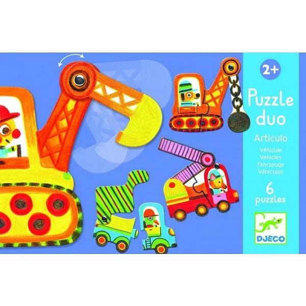 """DJECO Articulo Vehicle Puzzle Duo"" - Fairy Kitten"