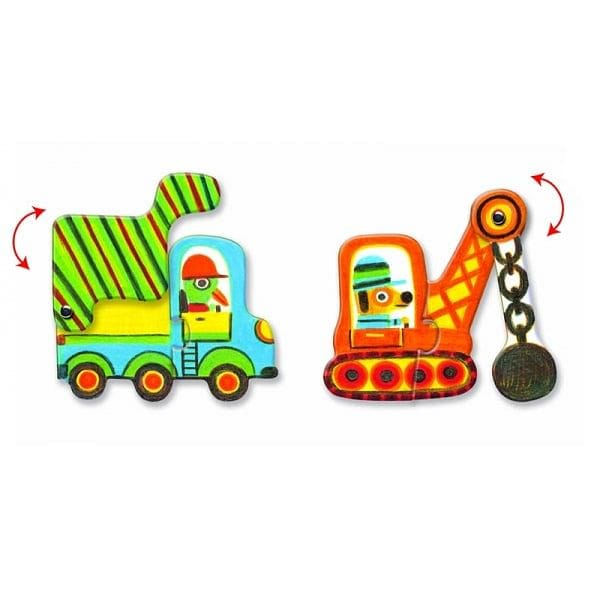 DJECO Articulo Vehicles Puzzle Duo - Fairy Kitten