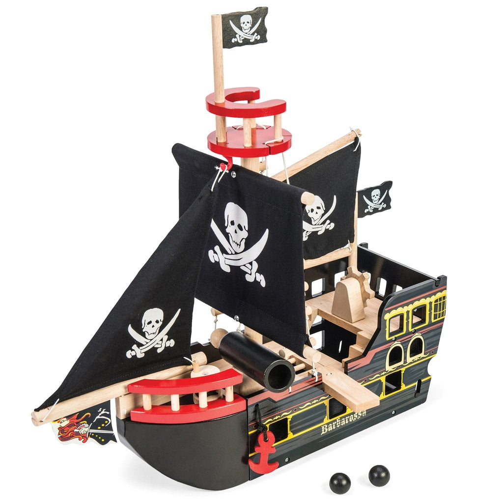 Le Toy Van TV246 Barbarossa Pirate Ship - Fairy Kitten