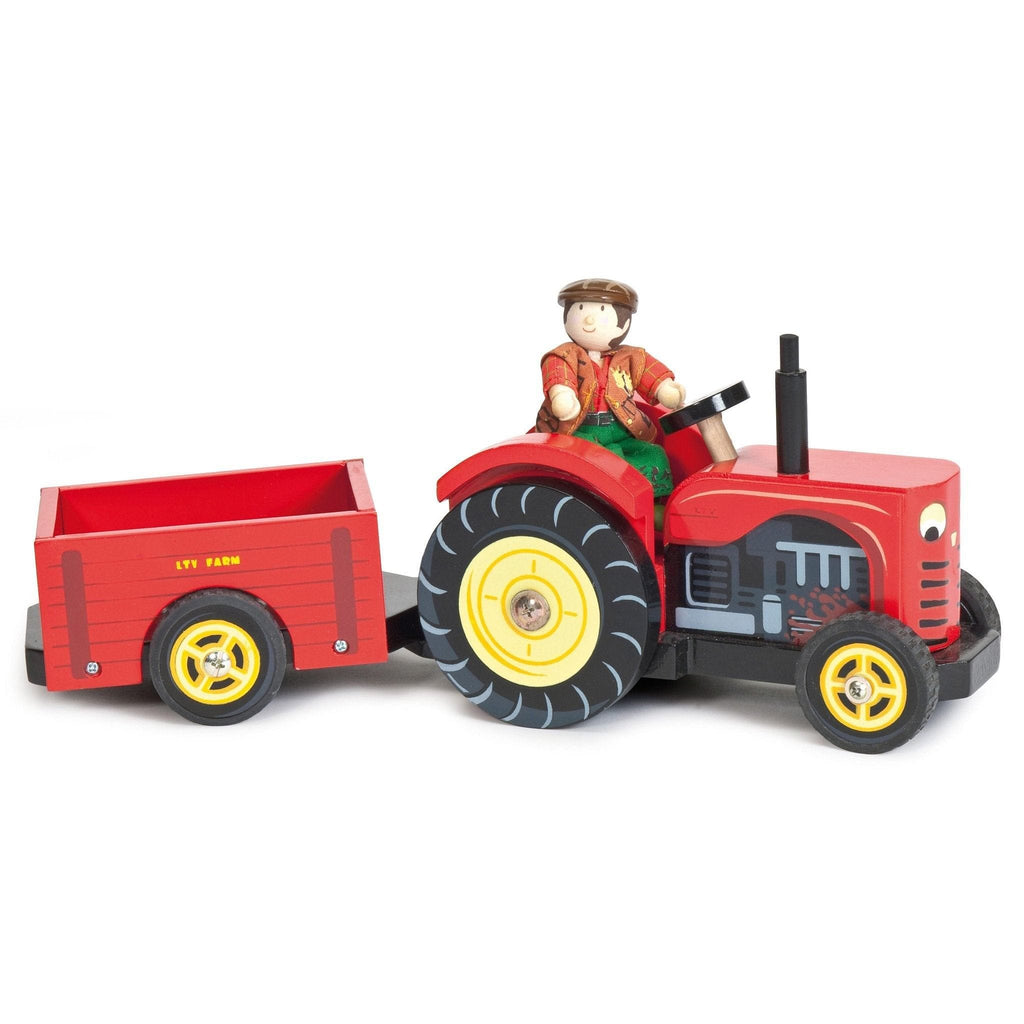 Le Toy Van TV468 Red Wooden Tractor - Fairy Kitten