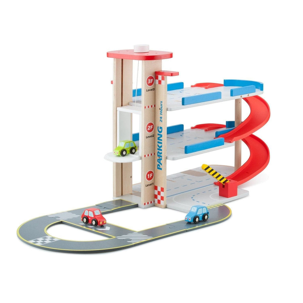 New Classic Toys 11040 Parking garage with track and 3 cars - Fairy Kitten