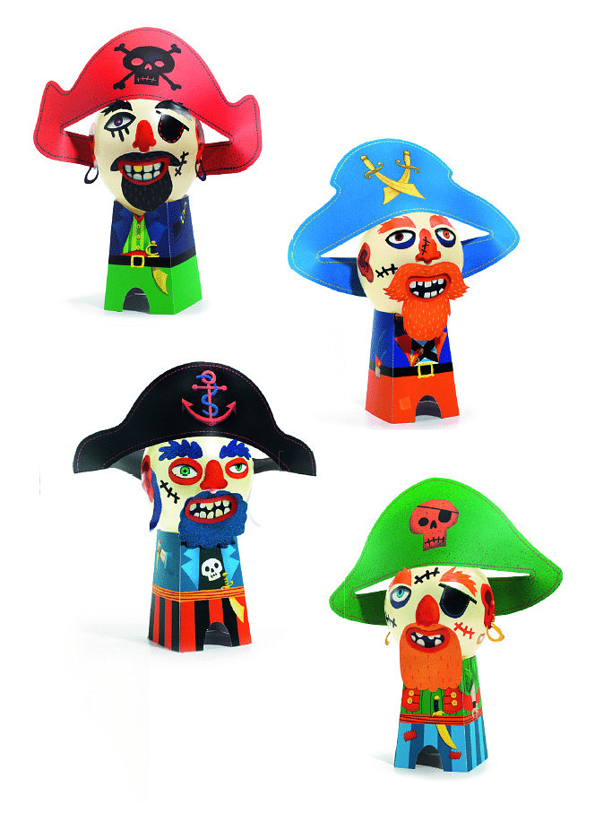 DJECO Do It Yourself - 4 Balloons To Decorate Funny Pirates - Fairy Kitten